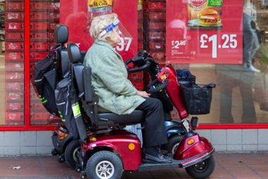 Vulnerable People Struggle to Shop on Scooters Amid Panic Buying
